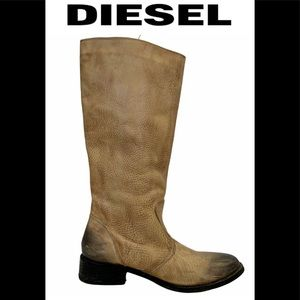Diesel tan faded to black boot size 7.5 EUC